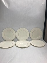 6 pc.WASHINGTON WAKEFIELD  Lenox Dish VINTAGE mid century Dinner plate w... - $89.09