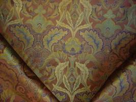 10Y Kravet Lee Jofa Sagechocolate Silk Floral Damask Brocade Upholstery Fabric - $274.89