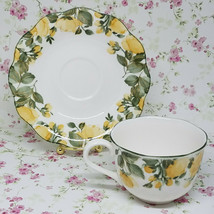 Vintage Nikko Japan Gracious Yellow watercolor roses cup and saucer set    - $22.18