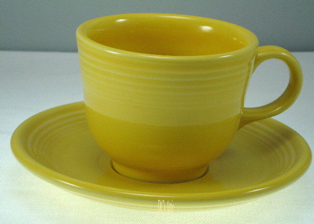 Homer Laughlin Fiesta Yellow Cup and Saucer