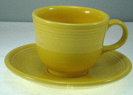 Homer Laughlin Fiesta Yellow Cup and Saucer - $9.27