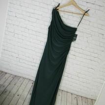 Ralph Lauren Dress Womens Size 10 Green One Shoulder Column Gown MRSP $160 - $82.30