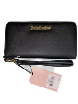 JUICY COUTURE Wallet- Wristlet Zip Around Black Gold Brand Name Plate La... - $27.99