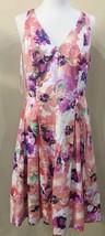 Lauren Ralph Lauren Women's Floral Print V-Neck Multi-Color Dress Size 10 - $41.58