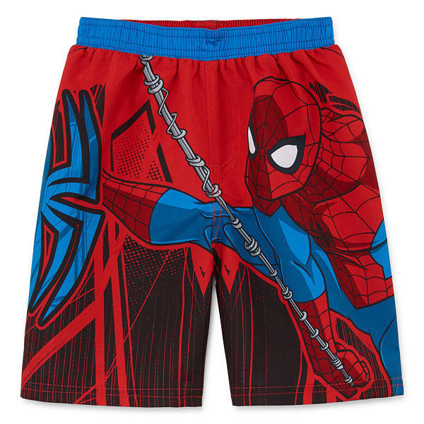 SPIDER-MAN UPF50+ Bathing Suit Swim Trunks w/Optional Sunglasses Sz. 2T 3T or 4T