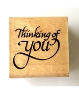 Thinking of You Stampendous Rubber Stamp Well Wishes Saying Wood Mounted... - $7.92