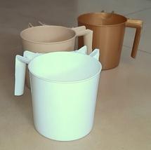 Lot of 3 Three Netilat Yadayim Natla Hand Washing Cup Plastic Judaica