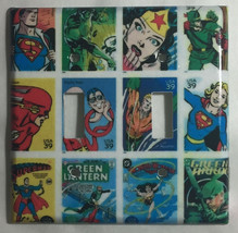 Comic Superhero USPS Stamps Light Switch Outlet wall Cover Plate Home Decor image 3