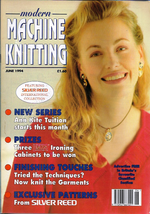 Modern Machine Knitting Jun 1994 Magazine Snakes and Ladders pattern - $5.69