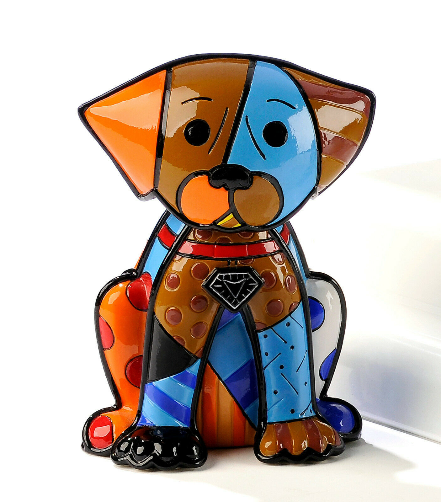 Romero Britto Boxer Dog Figurine Rare Collectible Numbered XXXX/4000