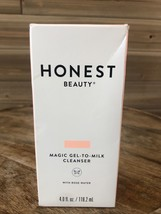 *NEW* Honest Beauty Magic Gel-to-Milk Cleanser With Rose Water 4.0 fl oz - $13.06
