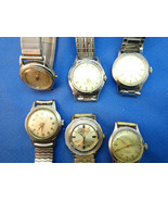 VINTAGE WINDUP WATCHES FOR RESTORATION SOME RUN MONARCH TILBURY IRIS WAD... - $175.00