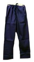 Navy Drawstring Unbranded XS Medical Uniform Scrub Pants Bottoms Unisex New - $19.57