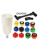 Aramox 15pcs Automotive Car Truck Engine Oil Funnel Filler with Adaptor ... - $84.24