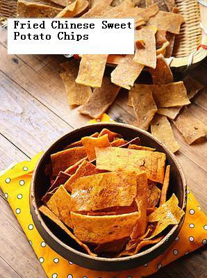 Hand made Chinese sweet raw potato Chips