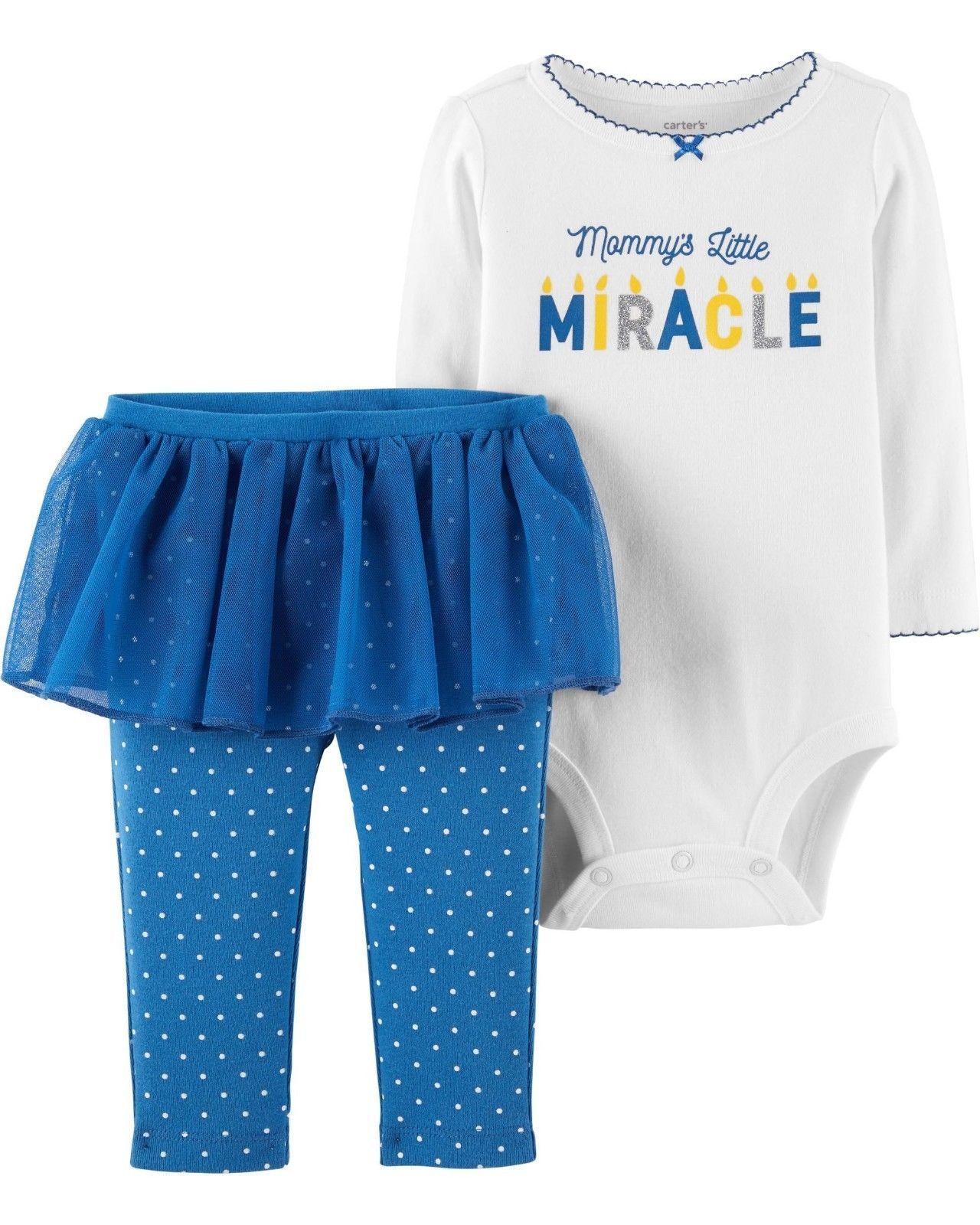 NEW NWT Carters Girls Hanukkah Set Pants Bodysuit Newborn 3 6 9 12 18 24 Months