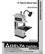 Delta Bandsaw Model# BS100 Instruction Manual - $10.88
