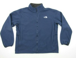 North Face Men XL Jacket Full Zip Outdoor Wind Blue Fleece Warm Coat Apex Liner - $34.60