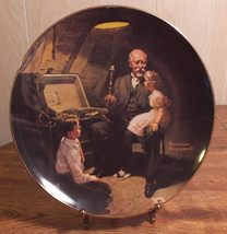 Limited Edition Collector Plate Grandpa's Treasure Chest-Norman Rockwell Knowles - $4.99