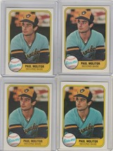 1981 Fleer #515 Paul Molitor Brewers Lot of 4 - $2.25