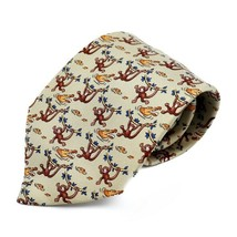 Hermes tie silk monkey crocodile beige apparel Men's Auth - $348.96