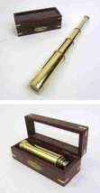 Captain's Pullout Telescope, Solid Brass - Polished - $44.55