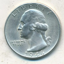 1946-S WASHINGTON SILVER QUARTER-VERY NICE UNCIRCULATED COIN-SHIPS FREE!  - $9.95