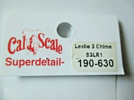 Cal Cal Scale # 190-630 Brass Leslie Air Horn 3 chime S3LR1.  1 Pack HO Scale image 2