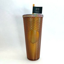 New Limited Edition Starbucks 50 Year Anniversary Honeycomb Gold Studded... - $75.99