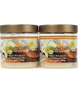 2 Count Dead Sea Collection 23.28 Oz Almond Vanilla Oils Dead Sea Salt S... - $24.99