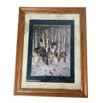 "September Snow By Larry Fanning 14' X 18"" Framed Print 1991 - $69.99"