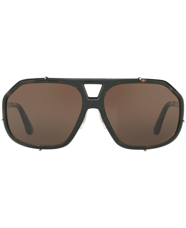 NEW  Dolce & Gabbana Sunglasses DG2167 04/73 Cube Havana Brown/Brown Gradient