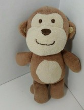 "Carters Just One You Plush mini monkey rattle baby small 5"" - $4.94"