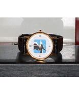 Pre-Owned Black & Gold Eagle Dress Quartz Analog Watch - $6.44