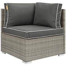 Repose Outdoor Patio Corner Light Gray Charcoal EEI-2956-LGR-CHA - $301.00