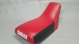 Yamaha TRI-MOTO YTM225 SEAT COVER 1983-1986  in 2-tone Red/Black rear sides (ST) - $42.95