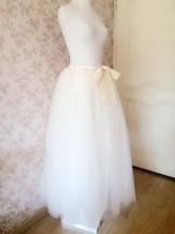 Plus Size White Wedding Bridal Skirt White Floor Length Tulle Skirt High Waisted image 9