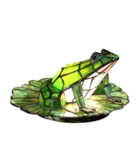 Dale Tiffany Accent Lamp Frog on Lilypad Multi ... - $112.20