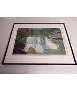 VINTAGE 1973 Blackwater Falls West Virginia Framed 16x20 Poster Display - $74.44