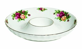 Royal Albert Old Country Roses FLUTED One Piece Chip and Dip, 12-Inch NEW - $89.09