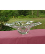 """Vintage VAL ST. LAMBERT Crystal - 9.5"""" Free Form CONSOLE BOWL - $39.95"""
