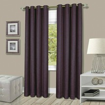 "Mainstays Skylar Lined Grommet Window Curtain Panel, Purple (50"" x 63) Free Ship - $18.80"