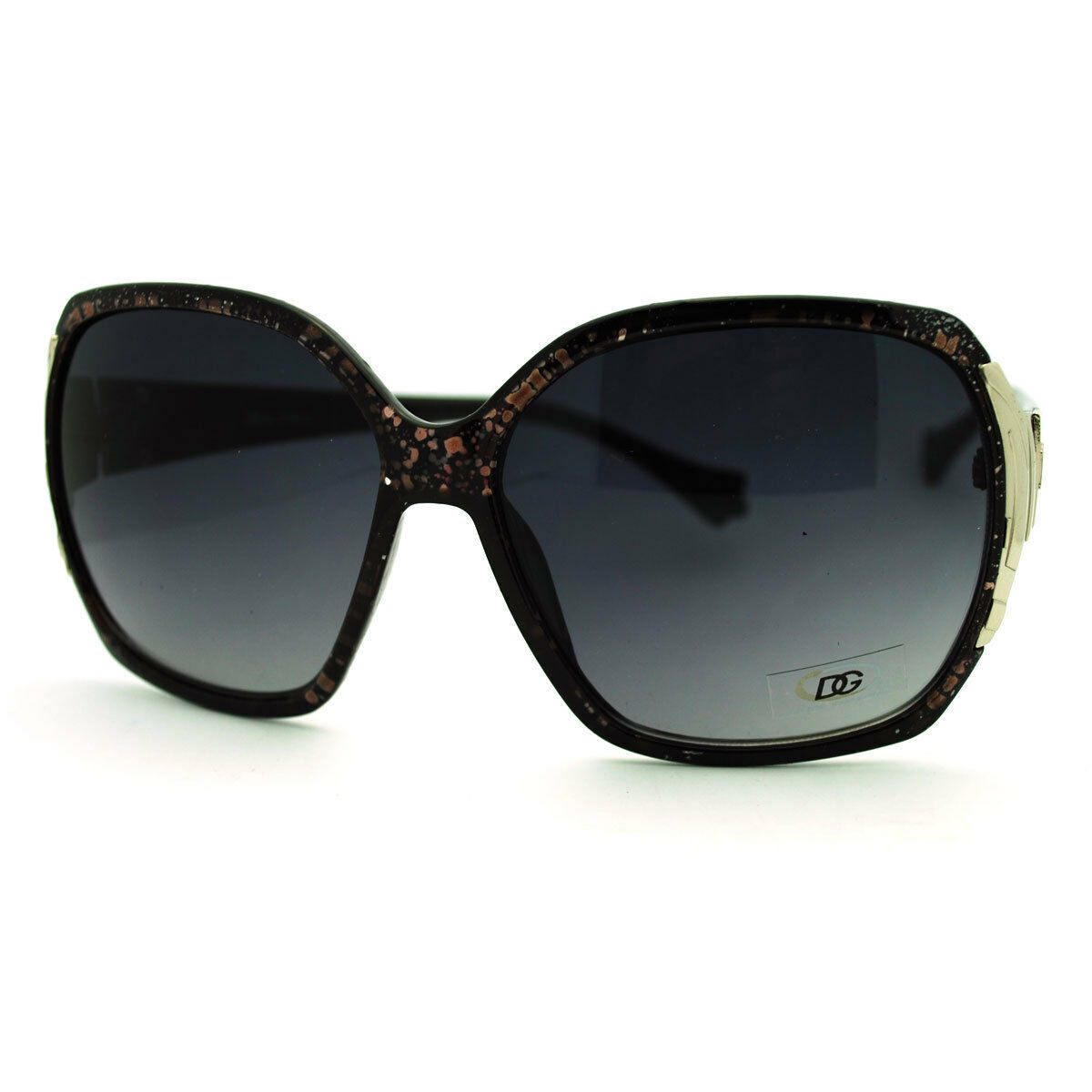 DG Eyewear Oversize Designer Fashion Metal Hinge Foliage Arm Butterfly Sunglass