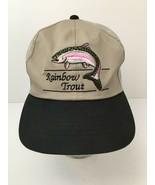 Vintage Rainbow Trout Fishing Hat Broner Trucker Snapback Cap - $22.23