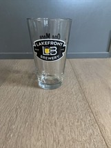 Lakefront Brewery Pint Beer Glass Black Logo One more! Then we Go. Milwa... - $14.00