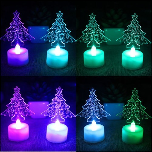 Christmas Tree Ice Crystal Colorful Changing LED Lamp Light Decor - $10.25