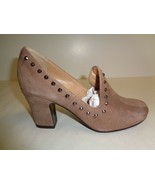 Sesto Meucci Size 6.5 M MYRZA Taupe Suede Studded Pumps Heels New Womens... - $124.05