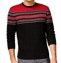 NEW CLUB ROOM CREW NECK FIRE ISLE COLORBLOCKED CABLE KNIT PULLOVER SWEAT... - €17,12 EUR