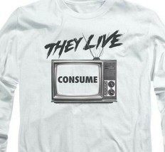 They Live T-shirt retro 1980's horror movie long sleeve graphic tee UNI609 image 2