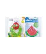 Baby Gel Soothing Teether Lot of 2 Ericl Carle Caterpillar Dr Brown's Co... - $16.99